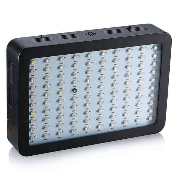 lampada led 300 w full spectrum nera vista frontale