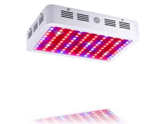 lampada grow led doppio chip 1000 w full spectrum accesa