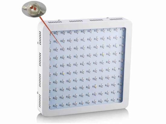 lampada grow led doppio chip 1200 w full spectrum frontale