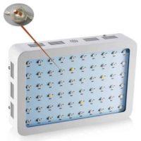 lampada led doppio chip 600 watt full spectrum front view