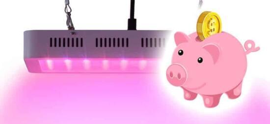 risparmio energetico coltivazione lampada led