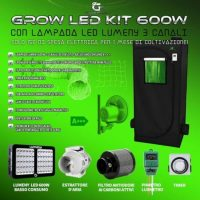 grow box completo 600w kit basso consumo