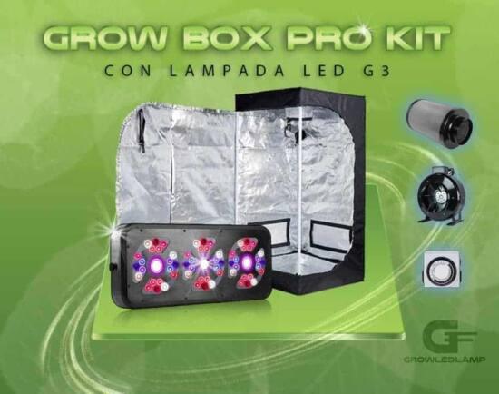 grow box completo di lampada g3